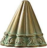 Kichler 15021VGB Ainsley Square Deck Light 12-Volt Deck and Patio Light, Verdigris with Aged Brass