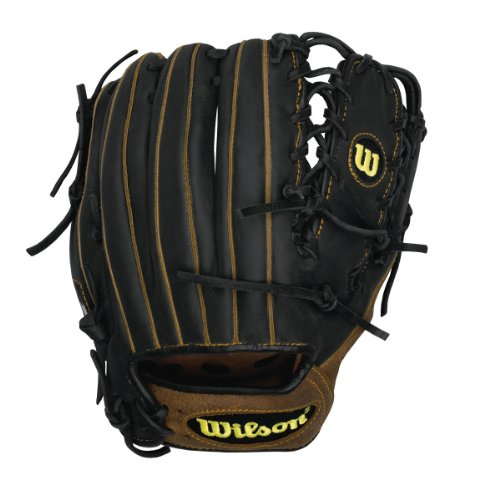 Wilson Pro Soft Yak Baseball Glove, Right Hand Throw (Black/Brown), 11.5