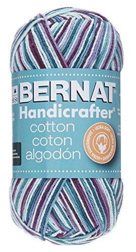Bernat Handicrafter Cotton Yarn (Bernat Handicrafter Cotton Ombre Yarn - (4) Medium Gauge 100% Cotton - 12 oz - Crown Jewels  -  Machine Wash & Dry)