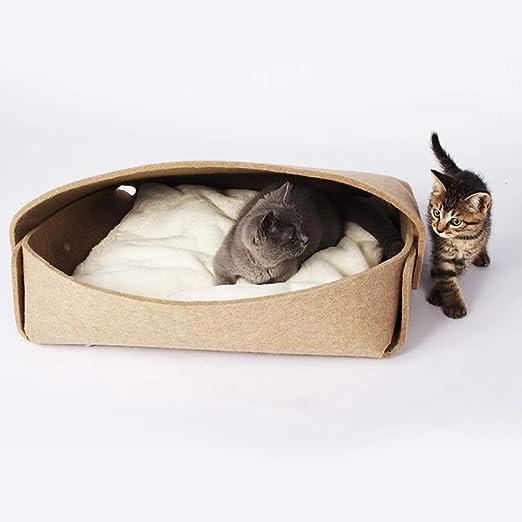 GYJ Cama para Gatos, Nido para Gatos, colchón semicerrado ...
