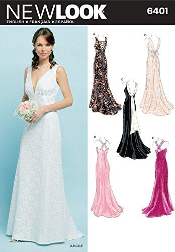 New Look Ladies Sewing Pattern 6401 Wedding & Evening Dresses