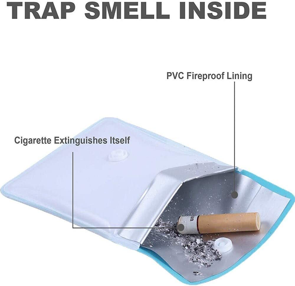 ignifuges et sans odeur. Lot de 10 cendriers de poche