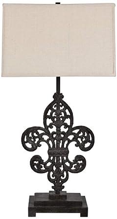 Crestview Collection Iron Fleur De Lis Bronze Table Lamp Amazon Com