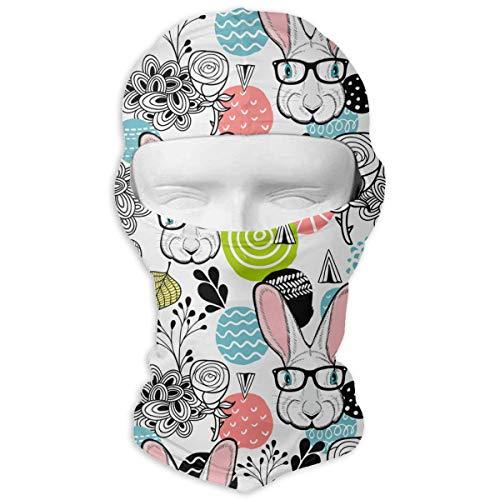 Cute White Rabbit Outdoor Cycling Ski Motorcycle Balaclava Mask Sunscreen Hat Windproof Cap