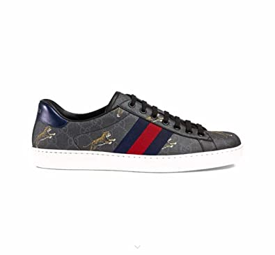 d1224d886 Gucci Ace Series Men's Tiger Pattern high-Grade Artificial Canvas Sneakers  (US7) Dark