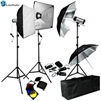 LimoStudio 750W (250W x 3) Professional Photography Studio Flash Strobe Light Lighting Kit Equipment Set, AGG404V2