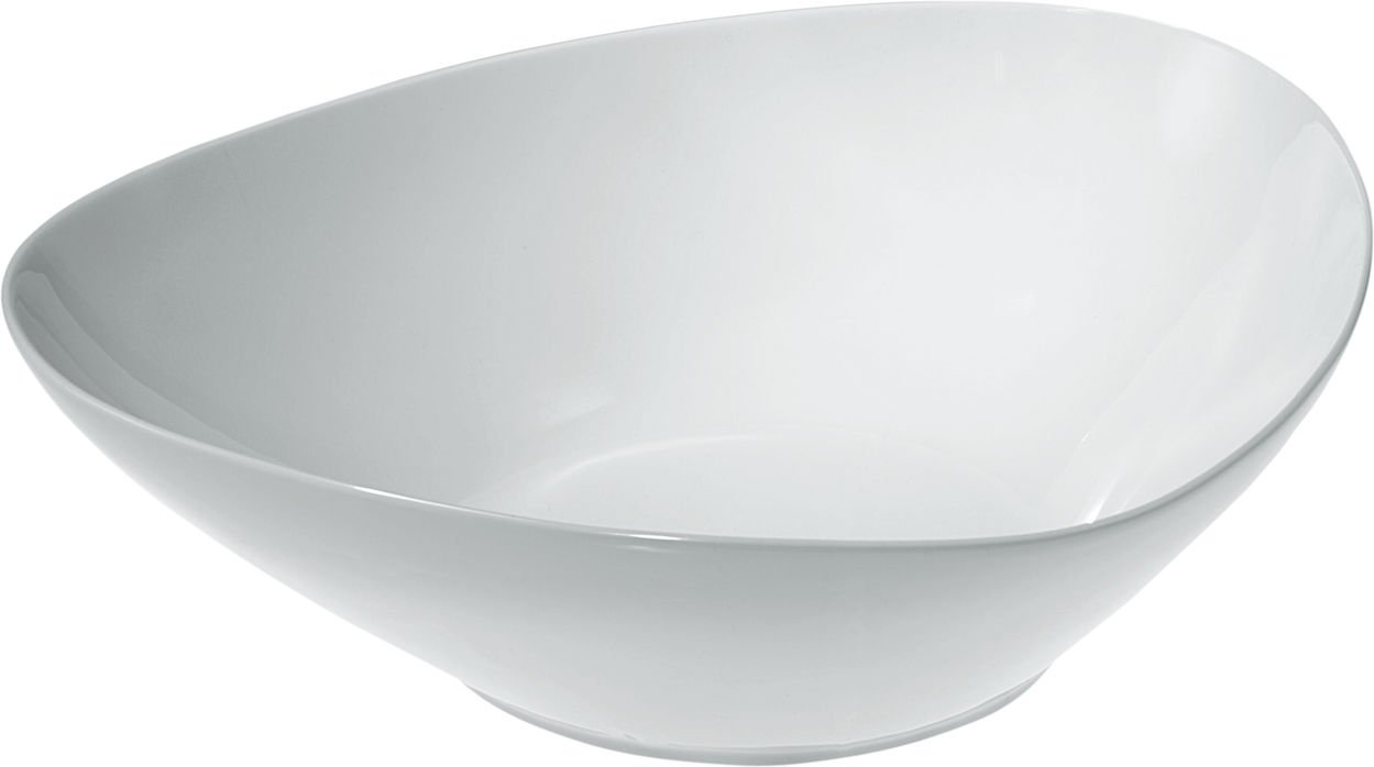 Alessi Colombina 12-1/4-Inch by 10-3/4-Inch Salad Bowl, White Porcelain