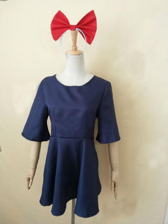 Amazon.com: Kiki Delivery Service cosplay costume Bag Hairband ...
