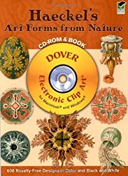 Haeckel's Art Forms from Nature: 608 Permission-Free Designs in Color and Black and White