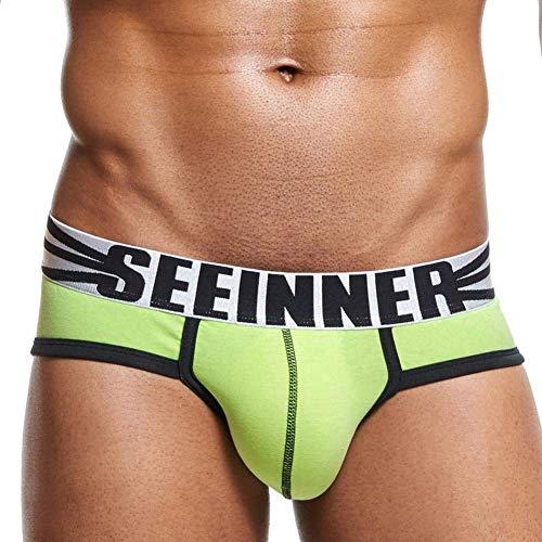 4 Moderna Warming Under Cuciture Cotone Pantaloncini Triangle Uomo Convesso Da Mutande Verde In Confezione Haidean Pantalone Con Casual f0xzqXY7w