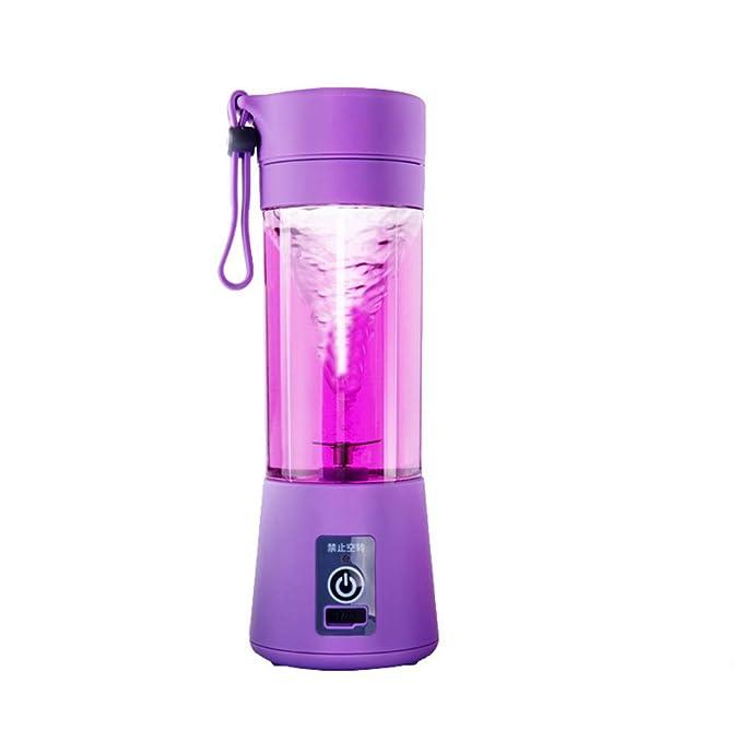 Xuba 380ML Multifunctional Electric Cup-Shape Juicer Mini Mixer Blender Vegetables Fruit Squeezers Reamers Bottle Purple