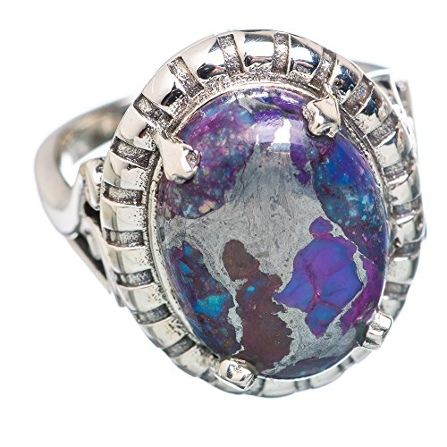 Ana Silver Co Purple Copper Composite Turquoise 925 Sterling Silver Ring Size 7.5 RING762688 (Ana Silver Co Purple compare prices)