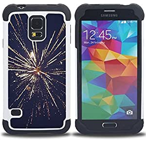 For Samsung Galaxy S5 I9600 G9009 G9008V - July independence day new years fireworks Dual Layer caso de Shell HUELGA Impacto pata de cabra con im????genes gr????ficas Steam - Funny Shop -