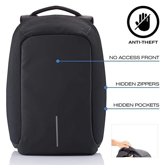 14be1c607f69 Amazon.com: XD Design Bobby Original Anti-Theft Laptop Backpack with USB  port (Unisex bag): Sports & Outdoors
