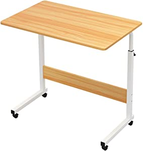 ZXYY 23.6 inch Adjustable Tray Table Medical Bedside Hospital Food Tray Wheeled Desk for Sofa Bed Hospital Reading Eating Cart Tray