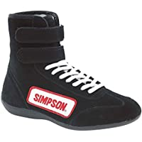 SIMPSON SAFETY Size 13 Black High-Top Driving Shoes P/N 28130BK