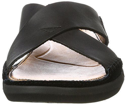 Black Trisand Clarks para Leather Punta Cross Negro Sandalias Descubierta de Hombre g1Fz1wq