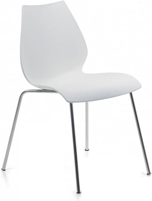 Kartell 28912M Stuhl Maui zinkweiß (selbstlöschende