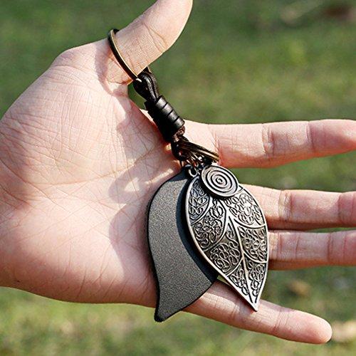 Rurah Fashion Alloy Large Leaf Keychain