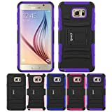 Galaxy Note 5 Stand Case, HLCT Rugged Shock Proof Dual-Layer Case with Built-In Kickstand for Samsung Galaxy Note 5 (2015) (Purple)