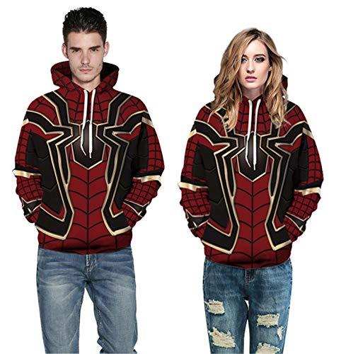 Fashion Men Women Avengers War Spiderman Hoodie Iron Spider-Man Coat Jacket Cosplay Costume Novelty Sweatshirts Red