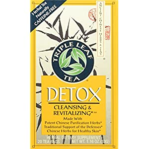 Triple Leaf Tea Chinese Medicinal Detox Triple Leaf Tea Bag, 20 Count