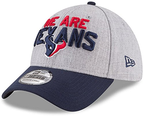 New Era Houston Texans 2018 NFL Draft Official On-Stage 39THIRTY Flex Hat – Heather Gray/Navy (Large/XL) - Nfl Draft Houston Texans
