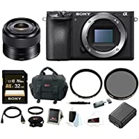 Sony a6500 Mirrorless Camera w/ 35mm Lens + 32GB Deluxe Accessory Bundle