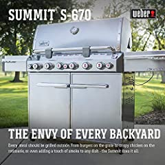 Become the envy of every backyard and go beyond what's expected. From burgers on the grate to crispy chicken on the rotisserie, or even adding a touch of smoke to any dish. The six burner Summit S-670 gas grill will redefine your definition o...
