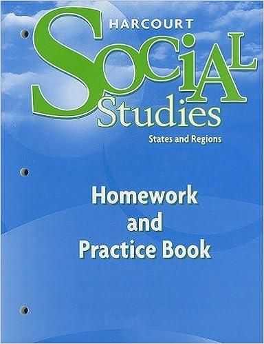 Harcourt Social Studies Homework And Practice Book Student