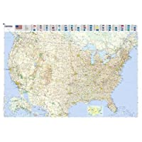 Michelin Karte USA, Planokarte, plastifiziert (Maps/Wall (Michelin))