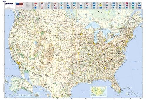 Laminated Rolled Map - Michelin Map USA Road 13761 (Laminated, Rolled) (Maps/Wall (Michelin))
