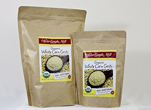 War Eagle Mill Organic White Corn Gritts in a resealable bag (2 (Organic White Corn)