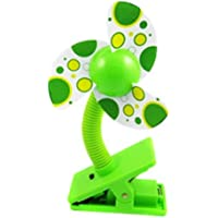 MONDAYNOON Clip-on With USB Mini Stroller Fan for Baby Cots Playpens Green