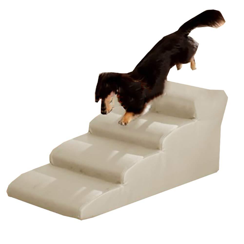 4 steps DQMSB Pet Slope Steps Pet Equipment Waterproof Pet Stair, Cat Dog, Portable Washable Animal Toys pet Bed (Size   4 Steps)