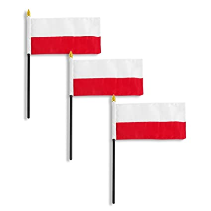 amazon com poland national flag 4 x 6 inch 3 pk garden outdoor