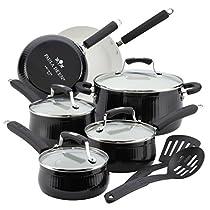 The Black Aluminum Nonstick 12 Piece Cookware Set