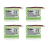 Odec Cordless Phones Battery for Motorola SD-7501 SD-7502 SD-7561 SD-7581 MD4250 MD4260 MD7101 MD7151 MD7161 MD725 V-Tech 89-1323-00-00 8913230000 89-0099-00- 00 (4pack 3.6V Ni-MH 1000mAh)