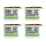 Odec Cordless Phones Battery for Motorola SD-7501 SD-7502 SD-7561 SD-7581 MD4250 MD4260 MD7101 MD7151 MD7161 MD725 V-Tech 89-1323-00-00 8913230000 89-0099-00- 00 (4pack 3.6V Ni-MH 1000mAh)
