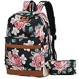 School backpack teen girls bookbag,casual college laptop backpack cute waterproof school bag travel rucksack for womens