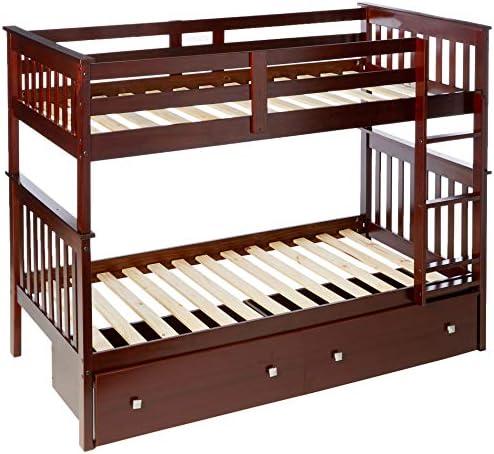 Donco Kids Mission Bunk Dual Under Bed Drawer