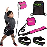 Crush it Sports Volleyball Training Equipment Aid - Practice Your Serving, Spiking, Setting and Arm Swing,  Serve and Spike Like a Pro with this Solo Trainer, Perfect for Beginners