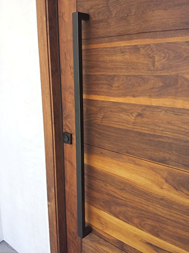 166 Rectangular-shaped Modern Stainless Steel Sus304 Entrance Entry Commercial Office Store Front Timber Wood Glass Door Pull Push Handles Double-sided (48 Inches /1200x25x38mm, Coffee 304 Grade) (Double Sliding Sided Door)