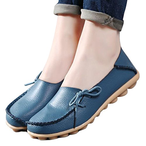 Fashion brand best show Women Flats Cut-Outs Comfortable Casual Shoes Round Toe Loafers Moccasins Wild Breathable Driving Shoes (9, - Us Best In Brands
