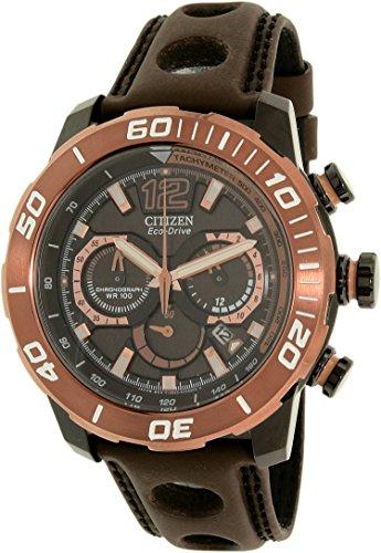 - Citizen Men's Eco-Drive CA4088-00E Bronze Leather Eco-Drive Dress Watch