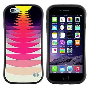 "Pulsar iFace Series Tpu silicona Carcasa Funda Case para Apple (4.7 inches!!!) iPhone 6 Plus / 6S Plus ( 5.5 ) , Record Music Sound Sunset Rosa Amarillo"""