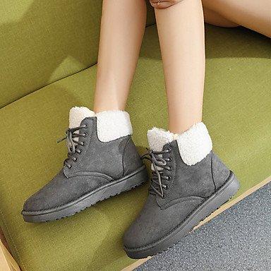 Khaki Flat Boots Lace Flat Women's Winter khaki Fabric up Gll Heel amp;xuezi Comfort Ruby Black Gray Casual E60qZTxSw