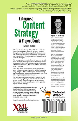 Enterprise Content Strategy: A Project Guide by XML Press