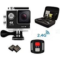 Legazone® 4K HD Action Camera 2.4G RF Remote Control 12MP Sports Video WIFI 170° Fisheye Cam Helmet, Underwater Snorkelling Camera Camcorder