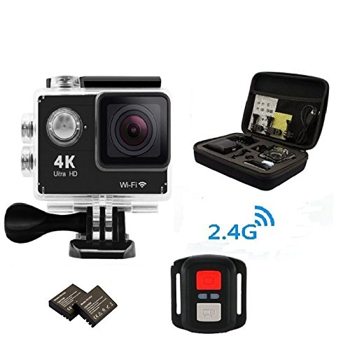 Legazone 4K HD Action Camera 2.4G RF Remote Control 12MP Sports Video WiFi 170° Fisheye Cam Helmet, Underwater Snorkelling Camera Camcorder